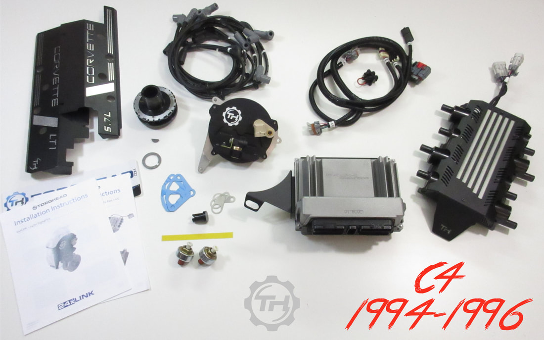 torqhead ltd is pleased to announce the release of our 94-96 lt1/lt4 c4  corvette ls pcm conversion kits  we have listened to popular demand,  stepped up to
